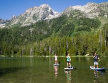 Paddle Boarding in the Tetons