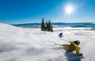 Jackson Hole Groomer Skiing